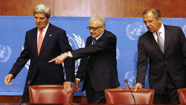 Wieder an einen Tisch: Kerry und Lawrow