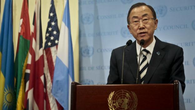 Ban Ki Moon fordert, dass der UNO-Bericht von allen Seiten akzeptiert werden müsse.