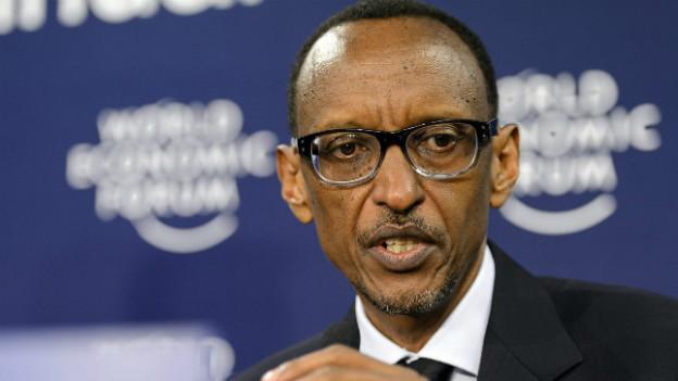 Ruandas Präsident Paul Kagame bei einem Auftritt am WEF in Davos 2013.