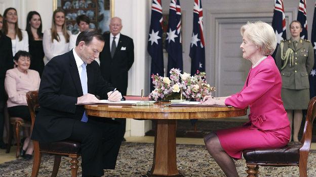 Der australische Premier Tony Abbott bei der Amtsübernahme.