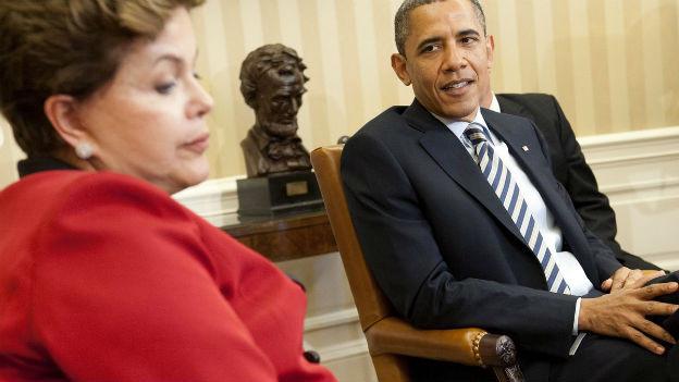 Dilma Roussef hat einen Besuch bei Barack Obama abgesagt.