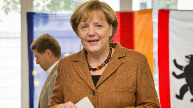 Hat gut lachen: Angela Merkels CDU erzielte ein gutes Resultat.