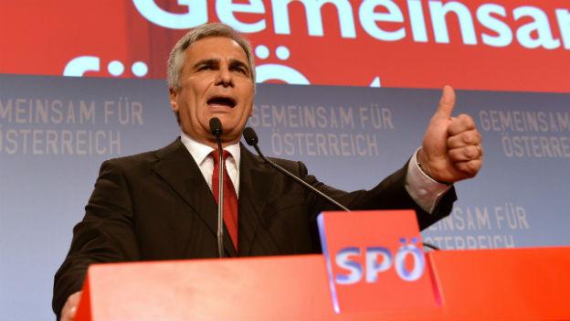 Der Kandidat der SPÖ wird weiter regieren: Werner Fayman.