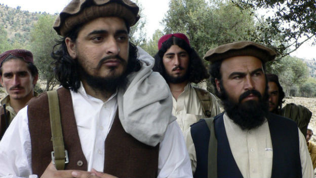 Der pakistanische Talibanführer Hakimullah Mehsud (links).