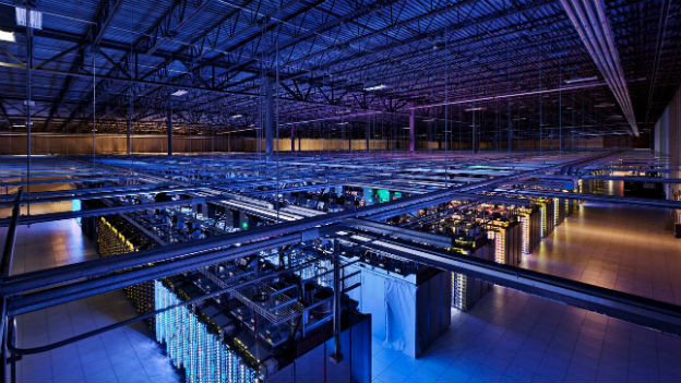 Undatiertes Bild eines Datenzenters von Google in Finnland.