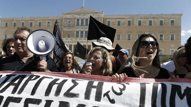 Symbolbild Dauerproteste gegen Sparprogramm in Athen.