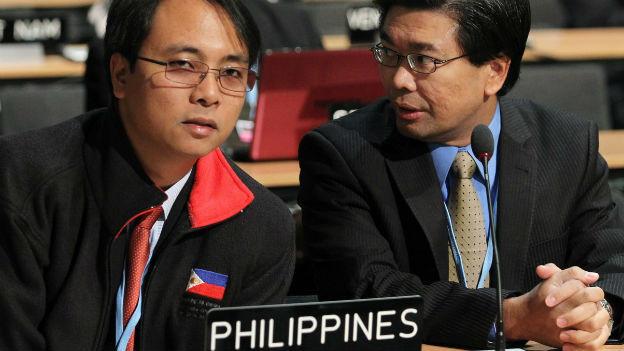 Vertreter der Philippinen an UNO-Klimakonferenz