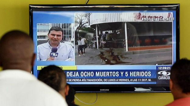 Nachrichten in Kolumbien berichten über Schiesserei