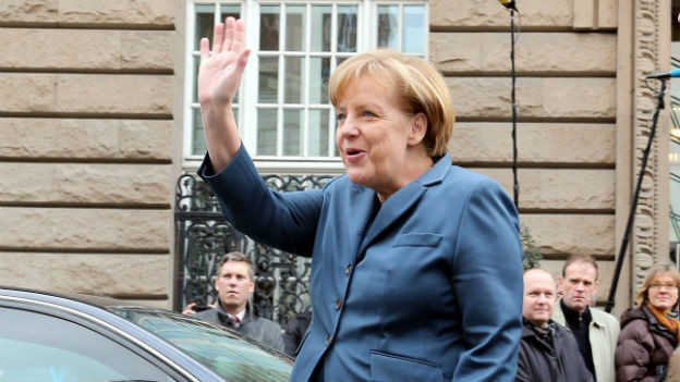 Bundeskanzlerin Merkel verhandelt über Koalition