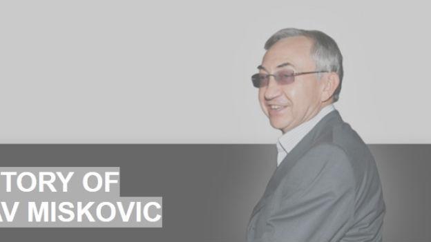 Ausschnitt aus der Webseite von Miroslav Miskovic