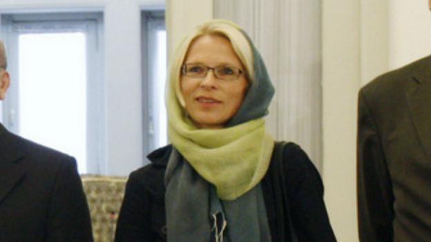 Die ehemalige Schweizer Botschafterin Livia Leu auf einem Archivbild im Iran.