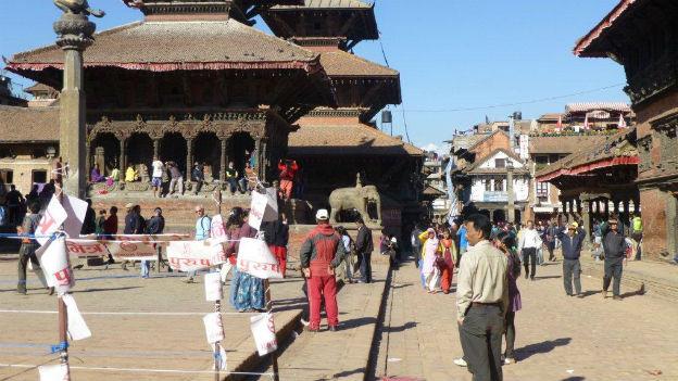 Katmandu am Wahltag.