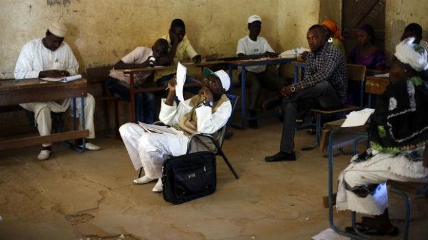 Wahlhelfer in Mali