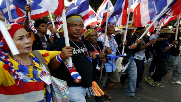 Demonstrationen in Bangkok.
