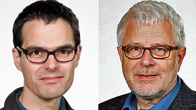 Urs Bruderer, SRF-Korrespondent in Brüssel und Peter Gysling, SRF-Korrespondent in Moskau.