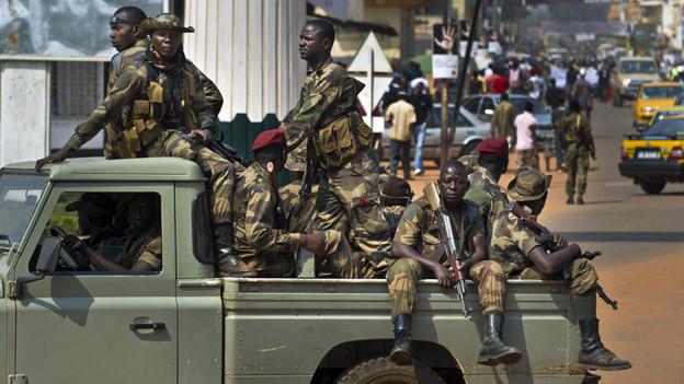 Militärkonvoi in der Zentralafrikanischen Republik.