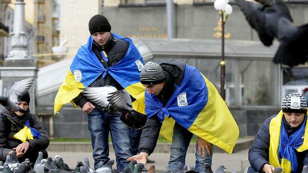 Die Proteste in der Ukraine dauern ungehindert an.