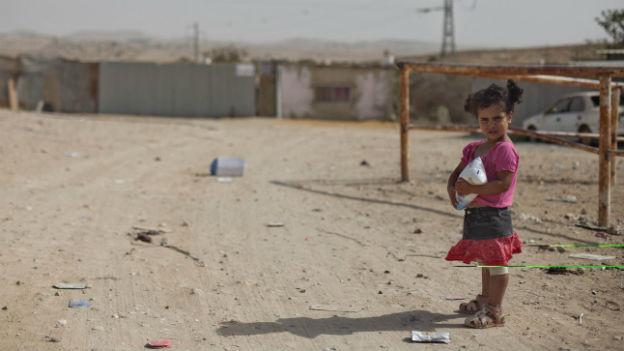 Ein Beduinenmädchen in Israel