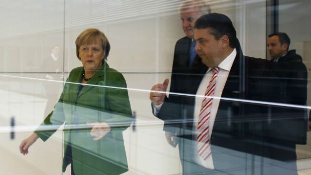 SPD-Chef Sigmar Gabriel (rechts) soll Energieminister werden.