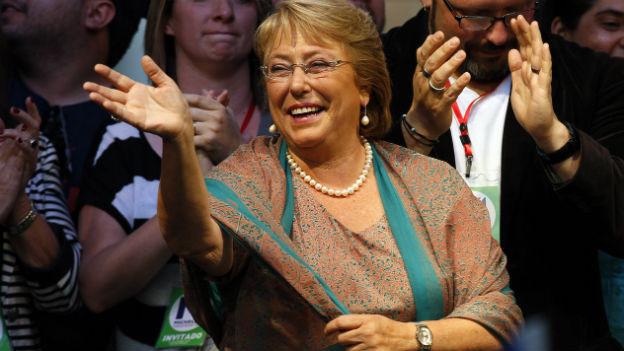 Michelle Bachelet, die strahlende Gewinnerin der Stichwahl in Chile.