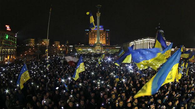 Anti-Regierungsproteste am 15. Dezember 2013 in Kiev.