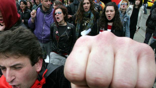 In Bulgarien wird seit Monaten ununterbrochen protestiert - wie hier am 1. Mai 2013