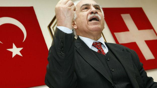 Der türkische Nationalist Dogu Perincek während einer Veranstaltung