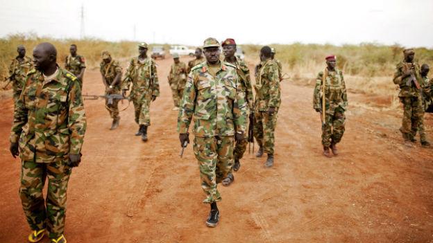 Soldaten der SPLA bei einer Grenz-Patrouille 2012.