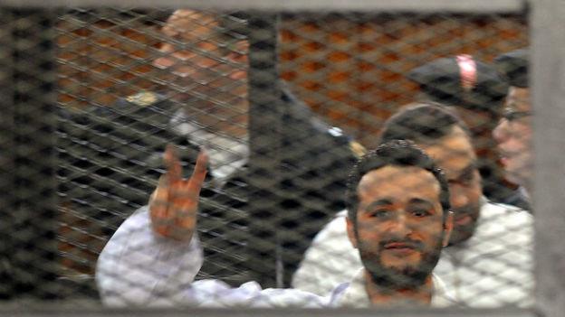 Ahmed Douma, einer der Verurteilten, im Gerichtssaal.