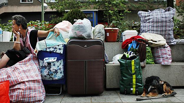 Opfer einer Zwangsräumung, im Sommer 2013 in Madrid.
