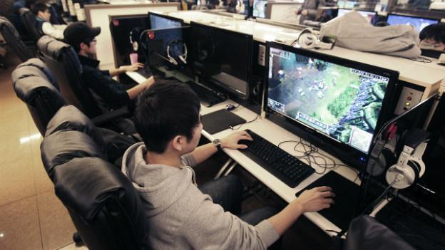 Online-Gaming in einem Internet-Café in Seoul.