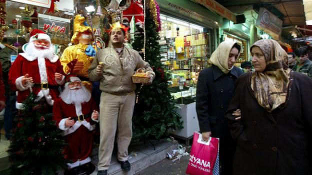 Weihnachtsstimmung in Istanbul.