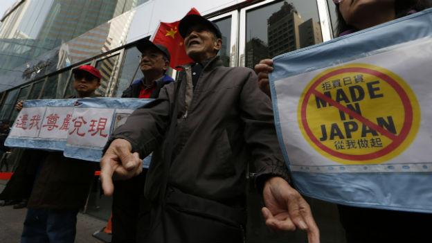 Explosive Stimmung: anti-japanische Proteste in Hongkong.