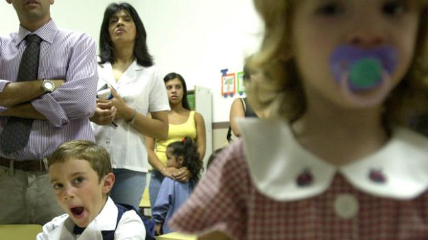 Elternabend an einer Schule in der Nähe von Bueons Aires.