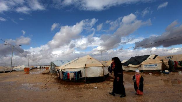 Syrisches Flüchtlingslager in Jordanien