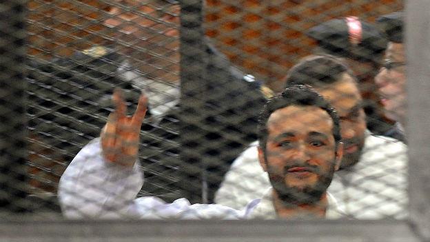 Ahmed Douma ist einer der drei verurteilten Aktivisten.