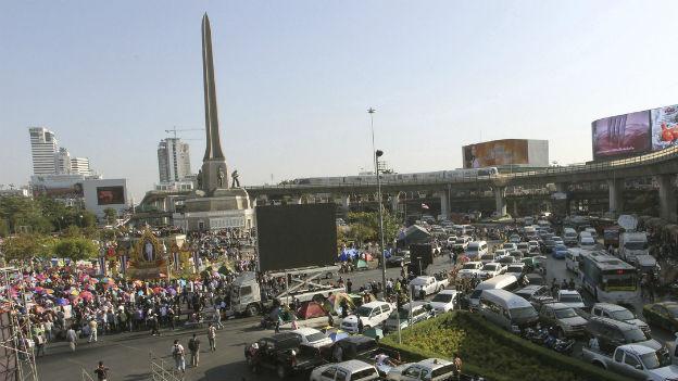 Kein Durchkommen für den Verkehr in Bangkok.