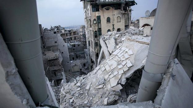 Überbleibsel der Kämpfe: Ruinen in der Stadt Aleppo Ende 2012.