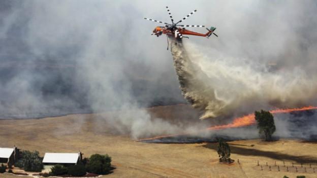 Helikopter im Einsatz in Victoria Country.