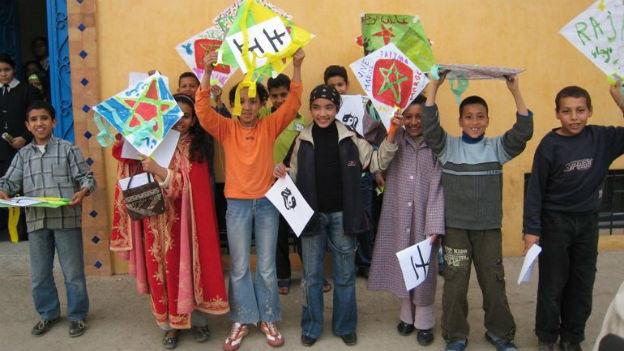 Neue Schulformen wie auf diesem Bild sind in Marokko selten