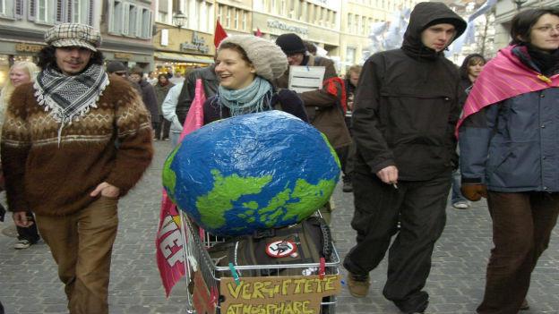Globalisierungsgegner 2006 in Sankt Gallen.