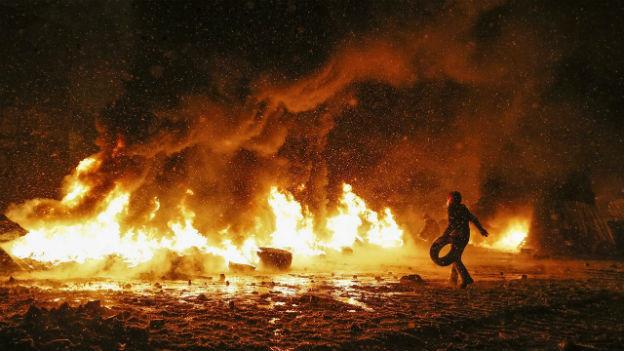 Anti-Regierungs-Protest in Kiew am 22. Januar.
