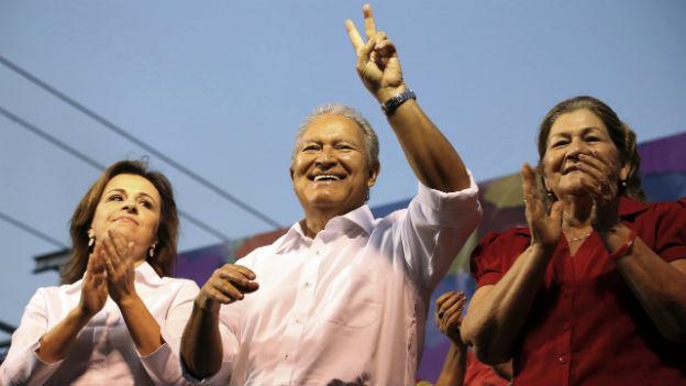 Der Favorit bei den Präsidentenwahlen in El Salvador: Sanchez Cerén.