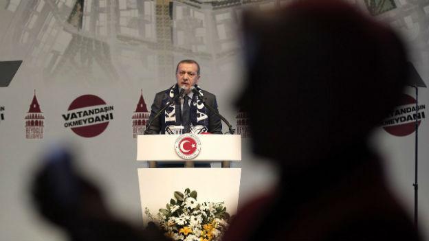 Der türkische Premier Erdogan bei einem öffentlichen Auftritt am 1. Februar 2014