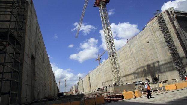 Blick auf die Baustelle zur Erweiterung des Panama-Kanals, Panama, 5. Februar 2014.