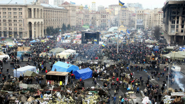 Der Maidan in Kiew am 22. Februar 2014.