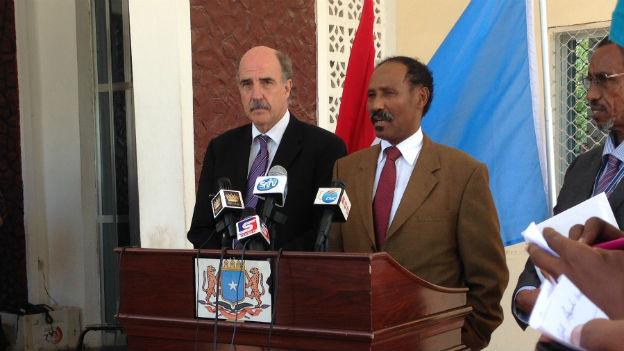 Botschafter Dominik Langenbacher in Mogadischu.