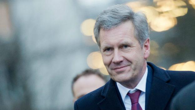 Der frühere deutsche Bundespräsident Christian Wulff vor dem Langericht in Hannover.