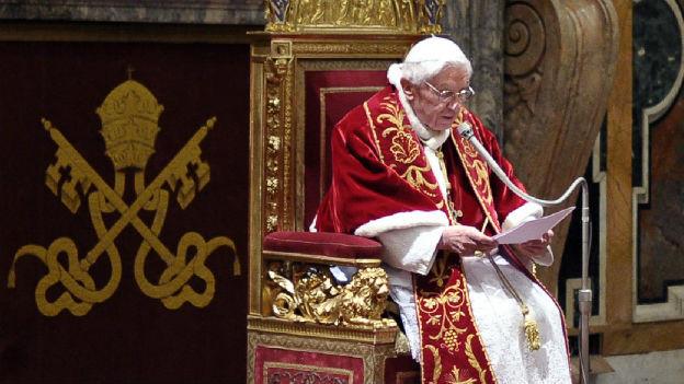 Papst Benedikt der 16. bei seinem letzten Auftritt am 28. Februar 2013.