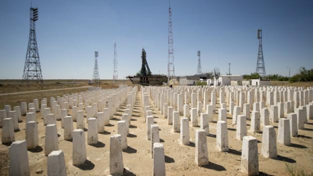 Der Raketenstartplatz in Baikonur im Süden Kasachstans.